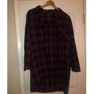 Forever 21 red & black flannel cardigan M